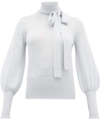 Zimmermann Espionage Roll-neck Wool Sweater - Womens - Blue