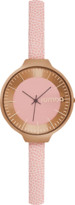 RumbaTime Rose Gold Orchard Leather Watch