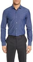 BOSS Men's Ridley Slim Fit Dot Sport Shirt