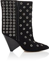 Isabel Marant Women's Grommet-Embellished Suede Ankle Booties