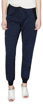 Elie Tahari Tarin Contrast Drawstring Pant with Banded Cuffs