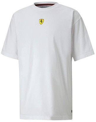 Puma Scuderia Ferrari Race Street Tee White) Men's Clothing