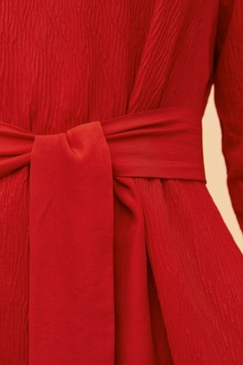 C/Meo COMES IN WAVES DRESS red