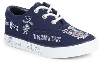Ralph Lauren Little Boy's & Boy's Vaughn II Cotton & Leather Sneakers