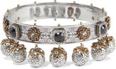 Alexander McQueen Silver And Gold-plated Swarovski Crystal Choker - one size