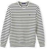 Petit Bateau Mens striped fleece sweatshirt