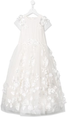 Aletta Floral Embroidered Tulle Dress