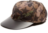 Valentino Star and camouflage print cap