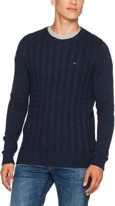 Tommy Jeans Men's Basic Cable Round Collar Jumper