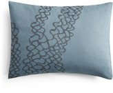 Vera Wang Corrugated Texture Embroidered Net Decorative Pillow, 15 x 20