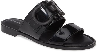 Salvatore Ferragamo Taryn Logo Slide Sandal