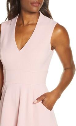 Eliza J High/Low Fit & Flare Dress