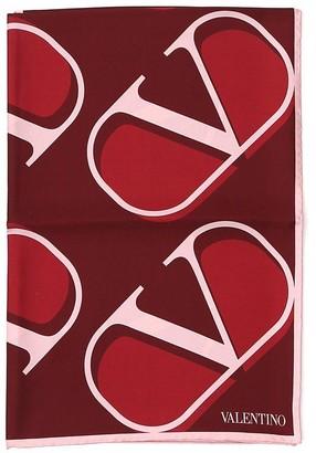 Valentino VLogo Printed Scarf
