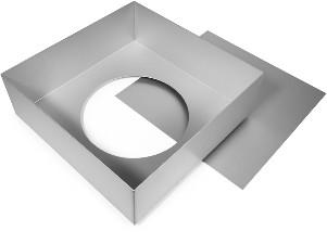 Cake Alan Silverwood Ltd - Square Tin Loose Base 12 Inch
