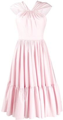 Alexander McQueen Tiered Midi Dress