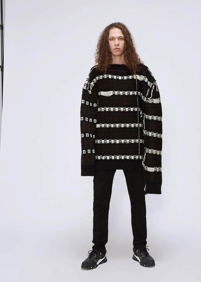 Calvin Klein Wool Jacquard Crewneck Sweater