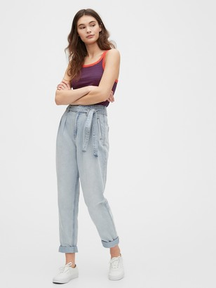 Gap High Rise Paperbag Jeans