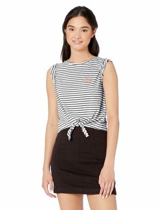 Roxy Women's Magical Sunset Tie Front Short Sleeve T-Shirt