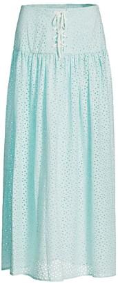 Marysia Swim Riviera Long Eyelet Skirt