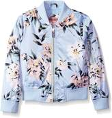Urban Republic Big Girls' Printed Sateen Bomber Jacket