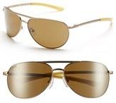 Smith Optics Women's 'Serpico Slim' 60Mm Polarized Aviator Sunglasses - Gold/ Polar Gray Green