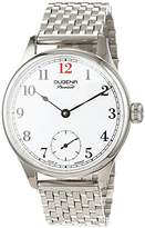 Dugena Men's EPSILON 2 Hand Driven Watch with White Dial Analogue Display and Silver Stainless Steel Bracelet