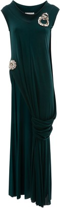 J.W.Anderson Crystal Brooches Draped Top