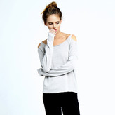 Minnie Rose Strappy Back Long Sleeve Pullover