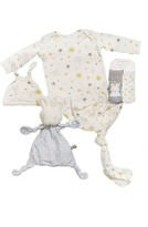 Bunnies by the Bay Infant Gown, Hat, Socks & Lovey Set