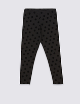 Marks and Spencer Cotton Leggings with Stretch (3-14 Years)