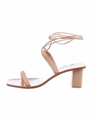 LOQ Leather Sandals Pink