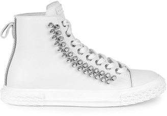 Giuseppe Zanotti Blabber Studded Leather High-Top Sneakers