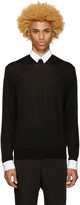Undercover Black Poplin Detail Sweater