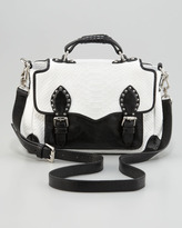 Rebecca Minkoff Schoolboy Snake-Embossed Leather Tote Bag