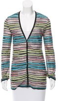 M Missoni Striped Knit Cardigan