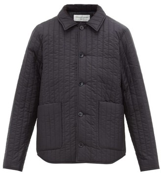 Officine Generale Theo Quilted Shell Jacket - Mens - Navy