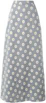 Ultràchic - daisy print maxi skirt - women - Cotton/Polyester - 40