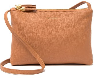 Ted Baker Macey Double Zip Leather Crossbody Bag