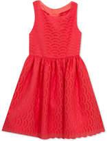 Rare Editions Bow-Back Eyelet Dress, Little Girls