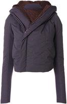 Rick Owens hooded biker coat - women - Silk/Cotton/Polyamide/Goose Down - 38