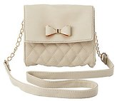 Charlotte Russe Quilted Bow Tie Crossbody Bag
