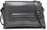 Halston Metallic Brushed Leather Shoulder Bag
