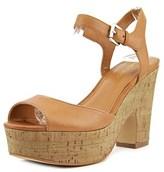 Marc Fisher Calia 2 Women Open Toe Leather Platform Heel.