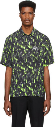 Diesel Black and Green S-Atwood-Glovy Shirt