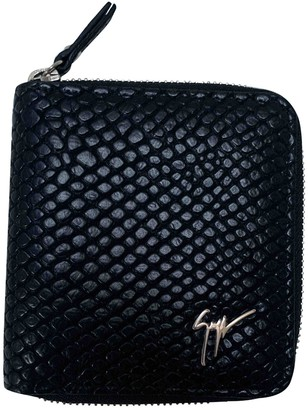 Giuseppe Zanotti Black Leather Small bags, wallets & cases
