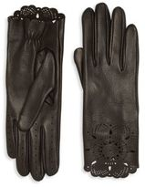 Burberry The Primrose Leather Lace Gloves