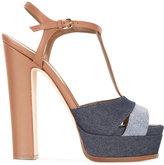 Sergio Rossi Edwige sandals - women - Cotton/Leather - 37