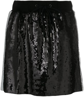 Alberta Ferretti side stripe sequin mini skirt