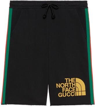 Gucci The North Face x Web print cotton shorts