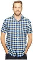 True Grit Beach Checks Short Sleeve One-Pocket Shirt Real Indigo Yarns